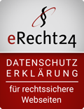 eRecht24 Datenschutzsiegel für Kunden